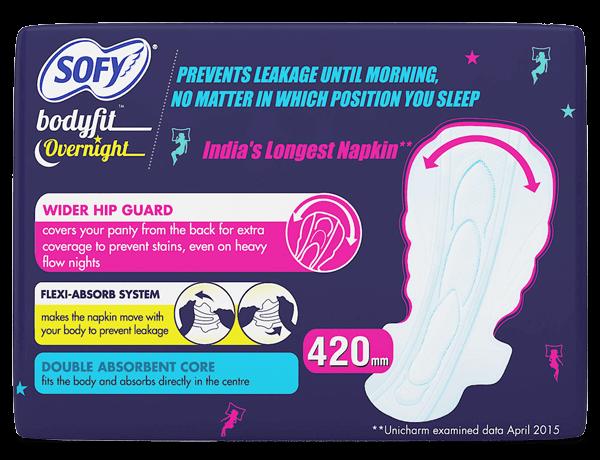 Sofy Bodyfit Overnight Extra Heavy flow (XXXL) Napkin Pads