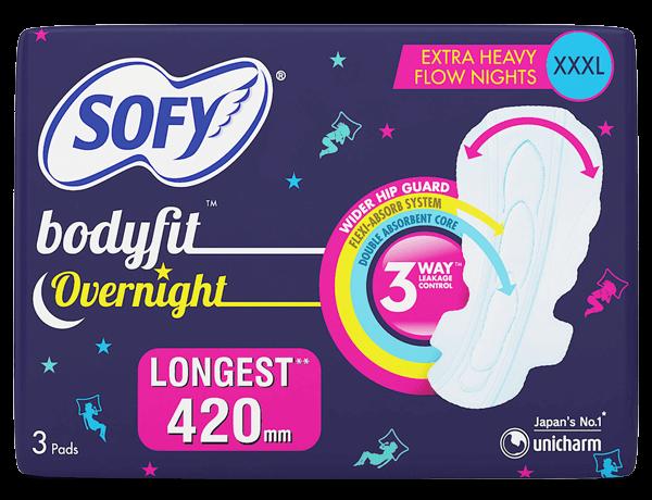 Sofy bodyfit Overnight Extra Heavy flow XXXL Pads