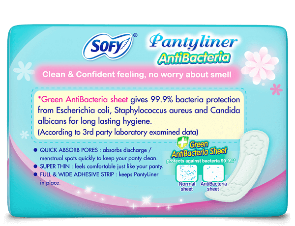 Sofy Antibacteria Pantyliner for non period days 18 pads