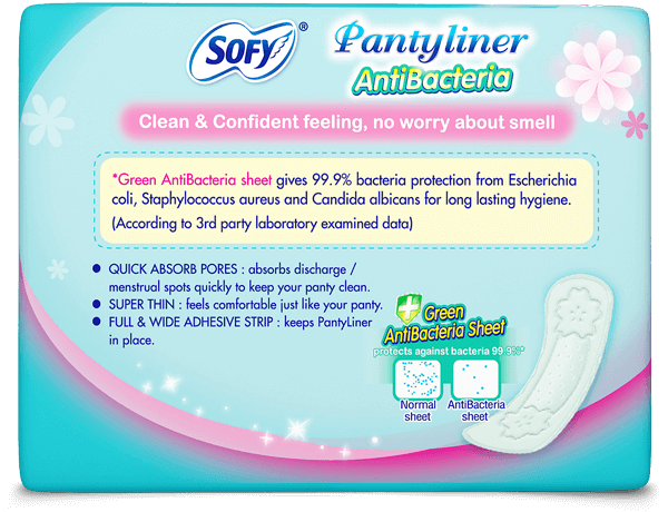 Sofy Antibacteria Pantyliner Clean & Confident feeling, no worry about small