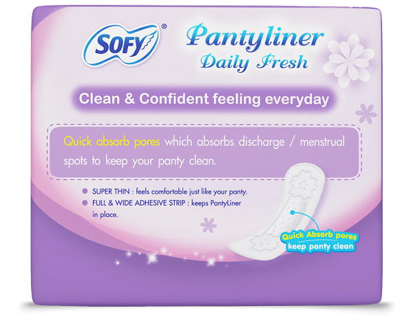 Sofy Pantyliner Daily Fresh clean & confident feeling everyday