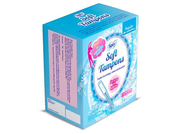 Try! for outstanding Comfort with sofy Tampons for normal flow easy to use applicator