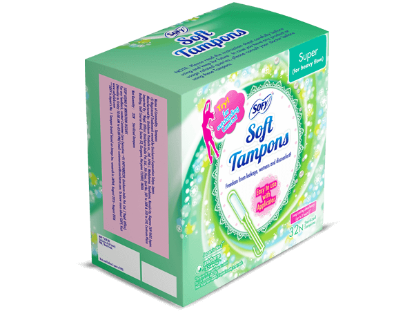 Try! for outstanding Comfort with sofy super Tampons for heavy flow easy to use applicator
